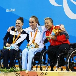 Paralimpiadi: Ghiretti argento e record nei 100 rana, tennistavolo di bronzo