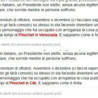 Di Maio, svista su Facebook: cita Pinochet in Venezuela. Poi corregge