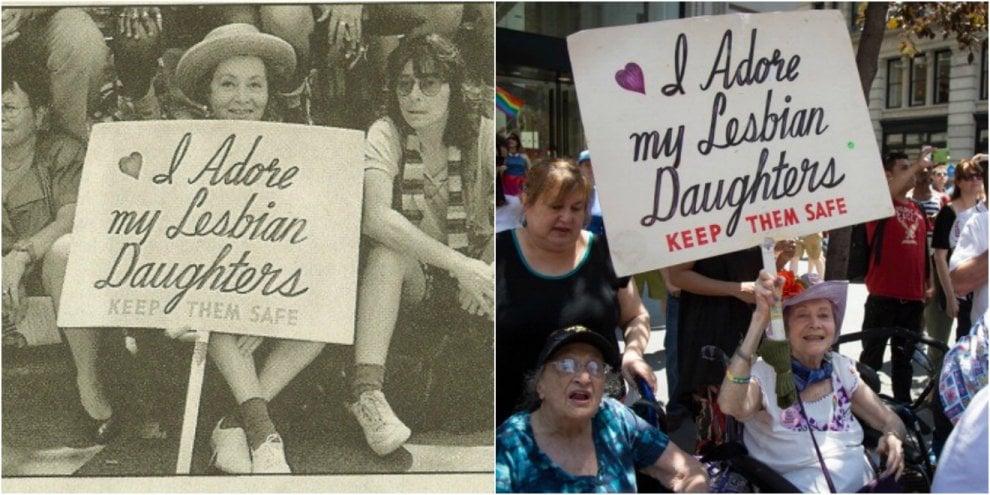 New York, mostra lo stesso cartello al gay pride per 30 anni: storia di una madre orgogliosa
