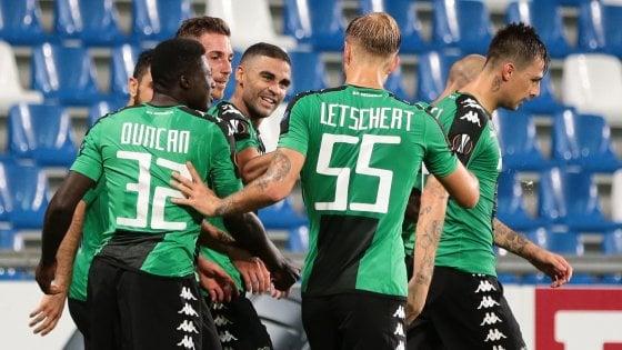 Sassuolo-Athletic Bilbao 3-0, debutto da sogno per i neroverdi