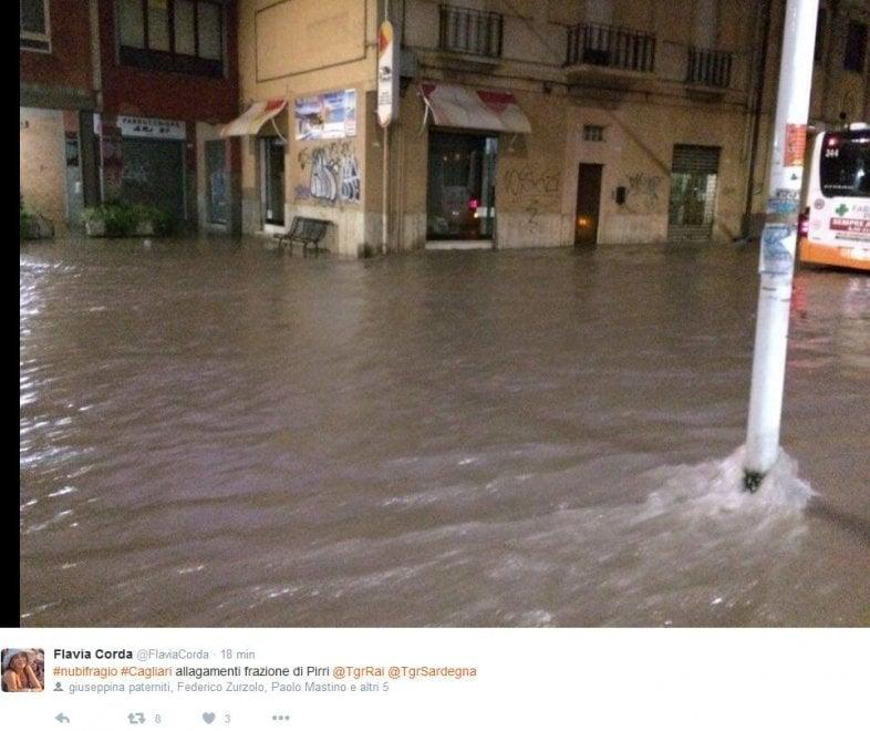 Bomba d'acqua in Sardegna: disagi e danni nel cagliaritano ...