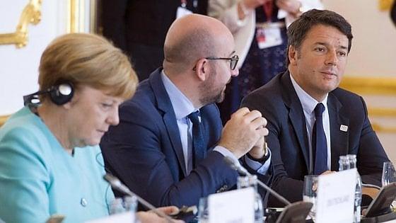 """Vertice Ue, Renzi rompe con Hollande e Merkel: """"La Germania non rispetta le regole"""""""