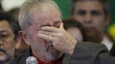 Il pianto di Lula, ex presidente del Brasile