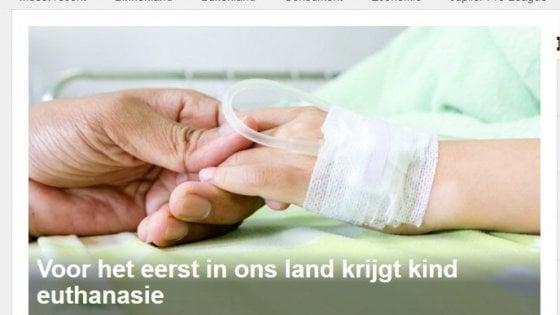 """Belgio, primo caso al mondo eutanasia su minore. Cei: """"Adulti con licenza di uccidere"""""""