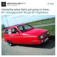 Ferrari ultima in griglia per problemi tecnici, la Mercedes la prende in giro così
