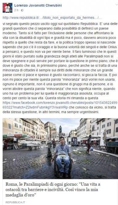 """Paralimpiadi, l'appello di Jovanotti: """"Non spegnete il faro sulla grandezza di quegli atleti"""""""