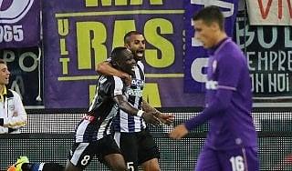 Udinese-Fiorentina 2-2: friulani due volte avanti, la Viola rimonta