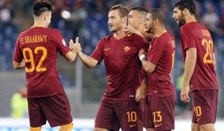 Roma-Crotone 4-0: Totti illumina, i giallorossi si rilanciano