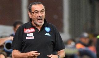 Napoli, De Laurentiis a Sarri: ''Niente alibi, decisioni arbitri vanno rispettate''