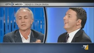 "Renzi-Travaglio, duello in diretta ""Io Fonzie? Lei è Ralph Malph"""