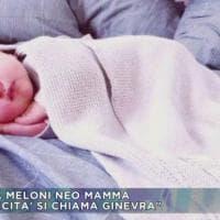 La piccola Ginevra, figlia di Giorgia Meloni