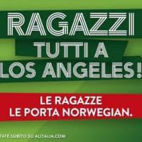 """Fine Brangelina, Alitalia su Twitter: """"Ragazzi a Los Angeles, le ragazze le porta..."""