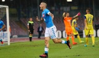 Napoli-Chievo 2-0, Gabbiadini e Hamsik rispondono alla Juve
