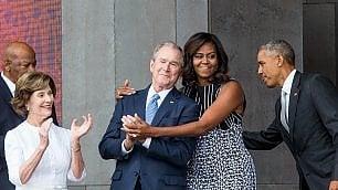 Apre primo museo afroamericano Obama e Michelle si commuovono