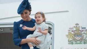 Charlotte, primo viaggio ufficiale La famiglia reale sbarca in Canada