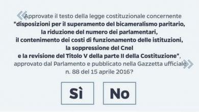 """Referendum, voto il 4 dicembre Renzi: """"La partita è qui e ora"""""""