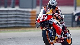 MotoGp, Marquez domina il Gp di Aragon, Rossi terzo