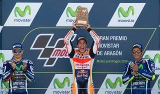 """MotoGp, Rossi: """"Lotterò per il secondo posto''. Marquez: ''Fermata la rimonta di Valentino''"""