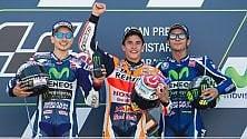 Marquez vince e allunga Rossi 3° dietro Lorenzo   Valentino : ''Ma io  non mi arrendo''    foto