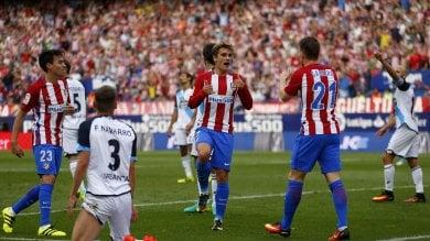 L'Atletico Madrid sale ancora Il solito Griezmann piega il Depor