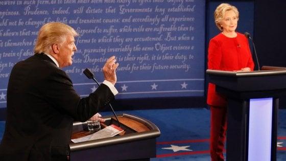 Elezioni Usa: tra Clinton e Trump duro scontro su economia, rapporti razziali e sicurezza