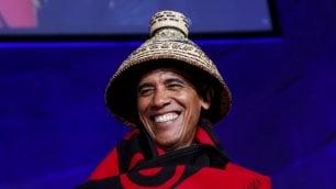 Barack in versione ''Aquila nera'' Obama per i nativi americani