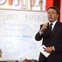 """Renzi, """"patto della  lavagna"""" su quattordicesima per le pensioni minime"""