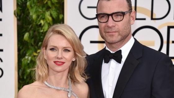 """""""Addio, ma con affetto"""", si separano gli attori Naomi Watts e Liev Schreiber"""