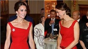 Il fascino discreto del rosso Kate e lo stile perfetto al gala