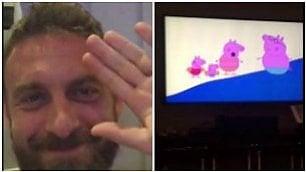 Gli auguri di De Rossi a Totti Amarcord guardando Peppa Pig