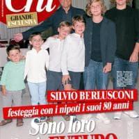 """Berlusconi festeggia 80 anni, in copertina con i nipoti: """"Mi sento un patriarca"""""""