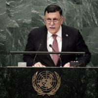 """Serraj: """"In Libia governo di unità nazionale entro l'anno"""". La Francia: """"Ma serve accordo..."""