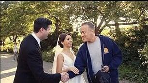 """""""Ciao sono Tom Hanks"""", sorpresa dell'attore a una coppia di sposi"""