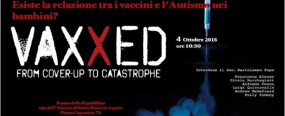 Vaccini, montano le proteste: annullata la proiezione del film 'Vaxxed' in Senato