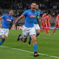 Napoli-Benfica, il film della partita