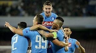 Spettacolo in Champions   foto   Napoli batte il Benfica 4-2