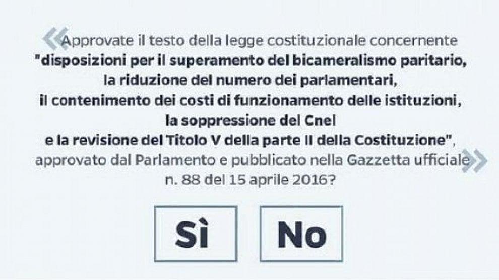 Referendum costituzionale, la scheda del 4 dicembre