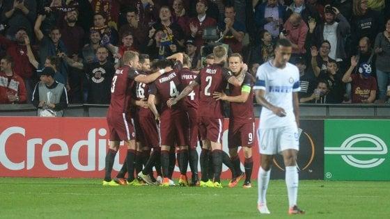 Sparta Praga-Inter 3-1, altra figuraccia europea per i nerazzurri