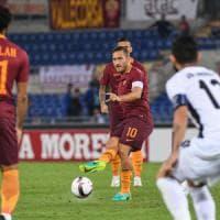 Roma-Astra Giurgiu 4-0: Totti show, tutto facile per i giallorossi