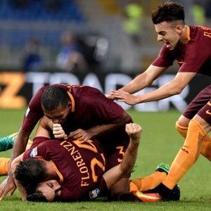 Roma-Inter 2-1, Dzeko e Manolas piegano i nerazzurri