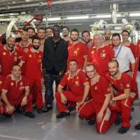 Balotelli in visita alla Ferrari