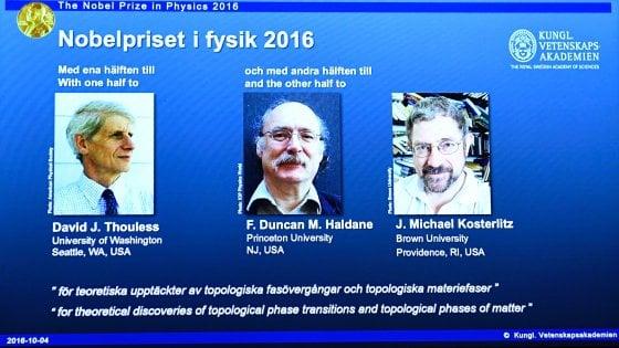 Nobel per la fisica 2016 a Thouless, Haldane e Kosterlitz