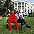 Usa, statue di Lego nel giardino della Casa Bianca