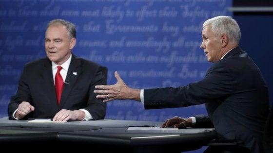 Presidenziali Usa: confronto tra i candidati vicepresidenti, prevale il repubblicano Pence