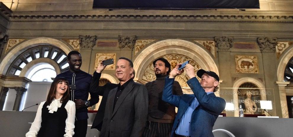 """Tom Hanks e l'Inferno' di Dan Brown: """"Il mistero stavolta è nel corpo di Dante"""""""