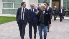 Renzi in visita da Della Valle
