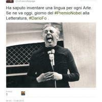 Addio a Dario Fo, il cordoglio di attori e politici sui social network