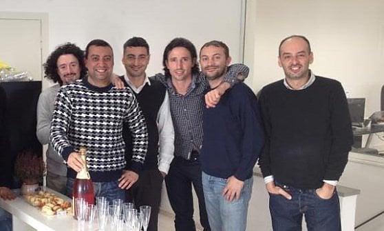 I fondatori di Attrakt. Da sinistra a destra: Francesco Pisano, Gabriele Miceli, Luca Ciavarella, Mario Casola, Riccardo Romoli, Andrea Dotta.Nella foto manca SImone Falcini.
