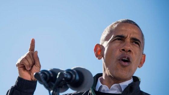 """Obama: """"In queste elezioni è in gioco la democrazia"""""""