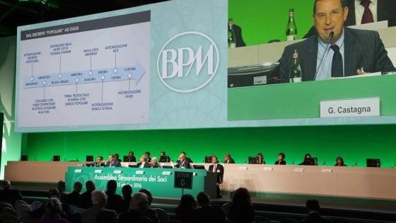"""Fusione Bpm-Banco, al via le assemblee. Castagna: """"Un salto per guardare al futuro"""""""